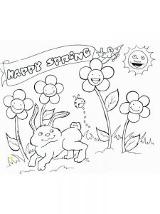 spring flowers coloring pages for kids
