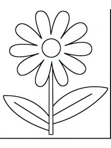 spring flowers coloring pages pdf
