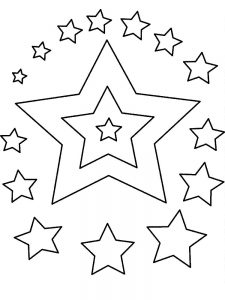 stars coloring pages to print