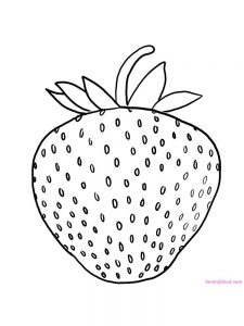 strawberry coloring pages pdf