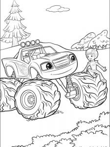 stripes blaze and the monster machines coloring pages