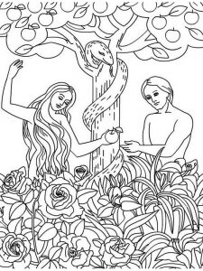sunday school coloring pages adam and eve