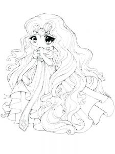 super cute girl coloring pages