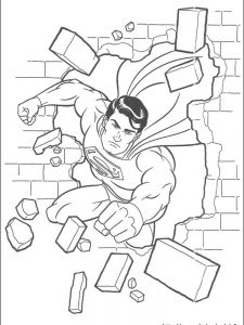 superman cartoon coloring pages
