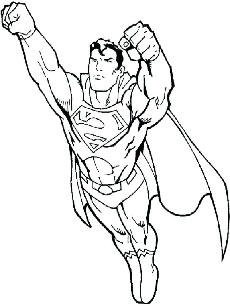 superman coloring pages for kids free