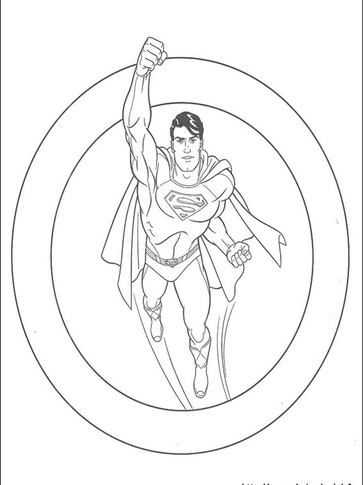 superman coloring pages free