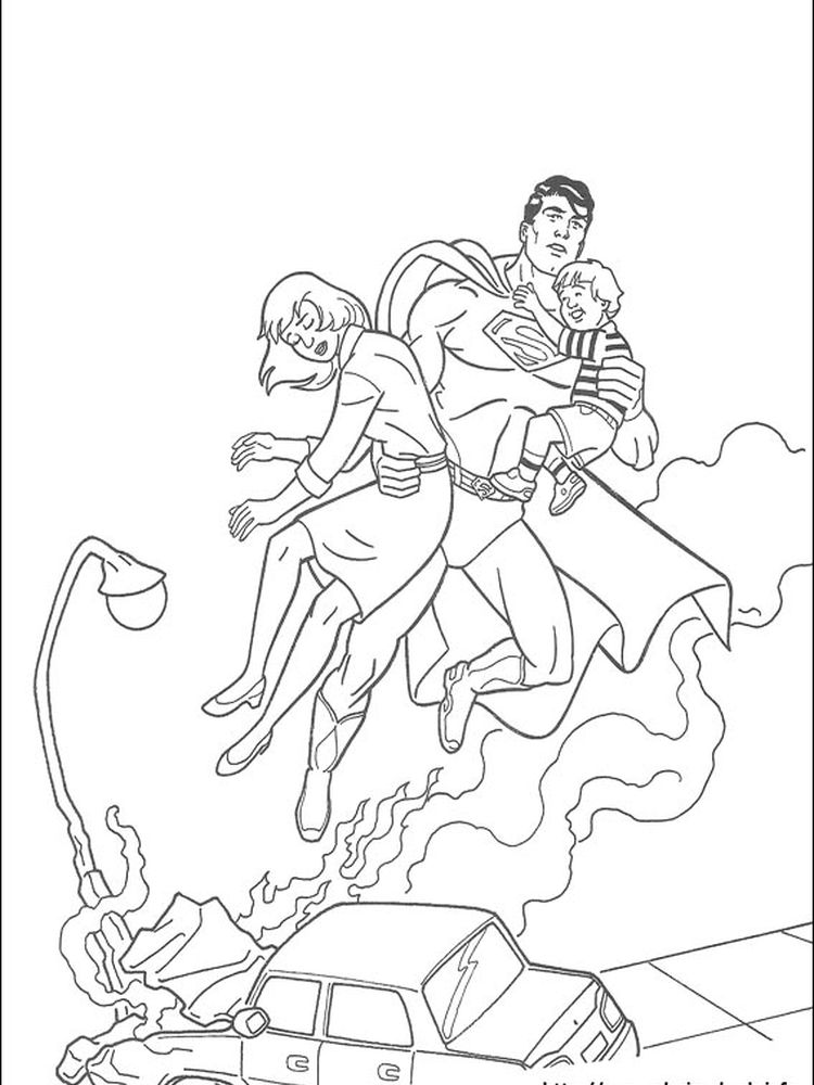 superman coloring pages online
