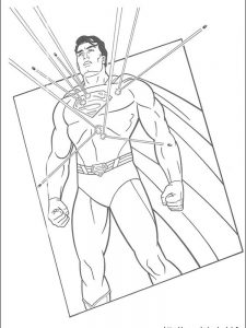 superman coloring pages print
