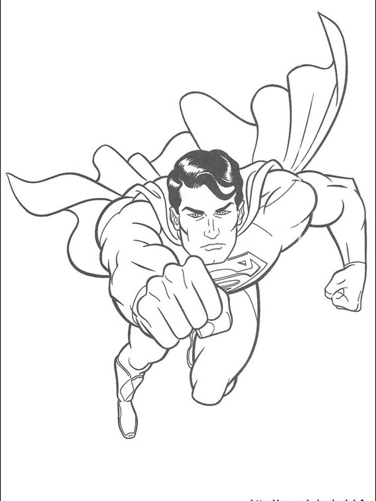 superman coloring pages to print out