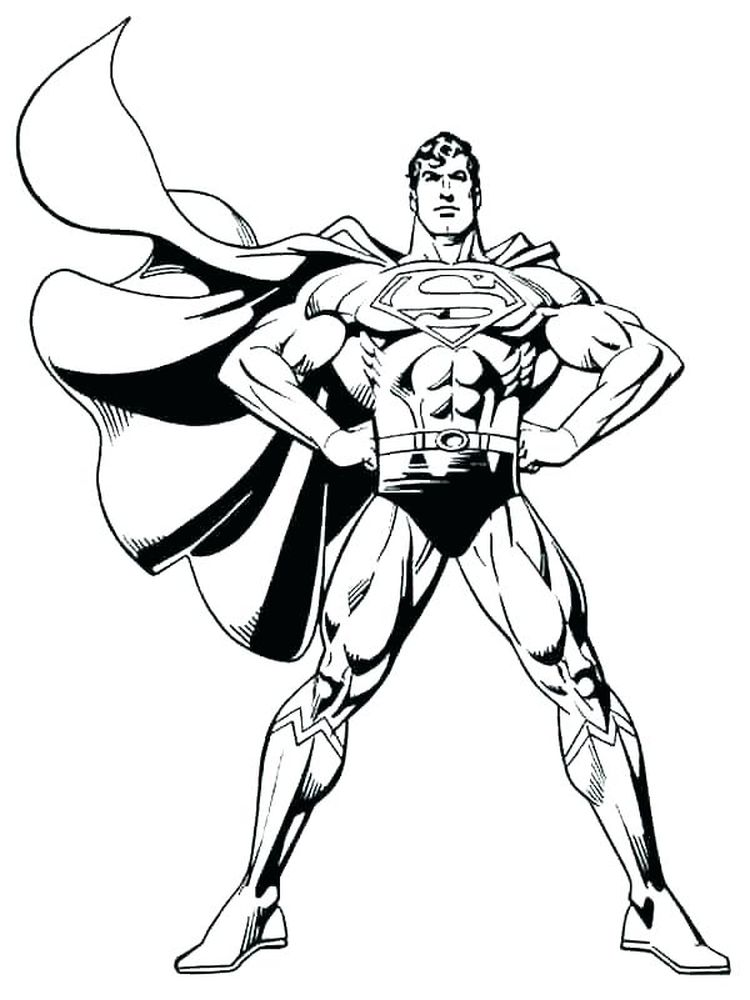 superman free online coloring pages
