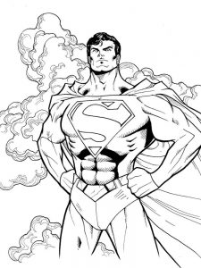 superman logo printable coloring pages
