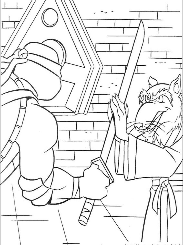 teenage mutant ninja turtles coloring pages free printable