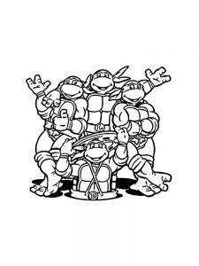 teenage mutant ninja turtles online coloring pages