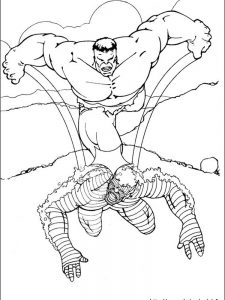the hulk coloring page
