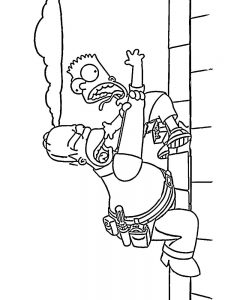 the simpsons coloring pages to print