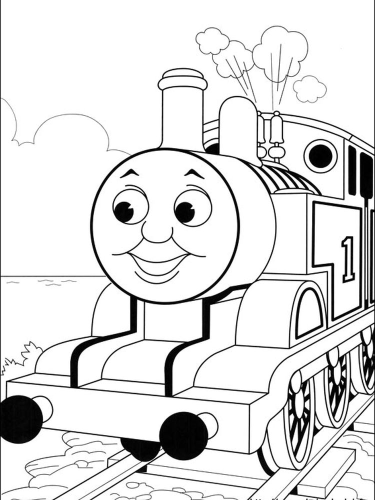 thomas the train and friends coloring pages