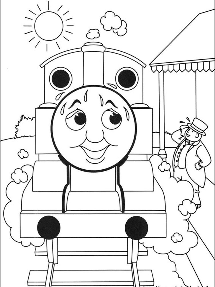 thomas the train coloring pages for kids