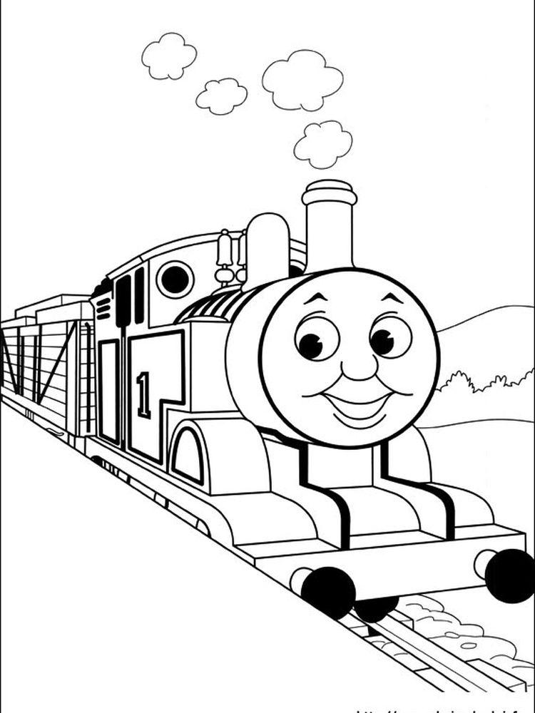 thomas the train coloring pages james