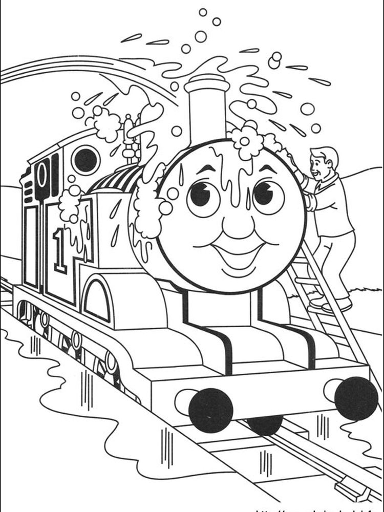 thomas the train free coloring pages printable
