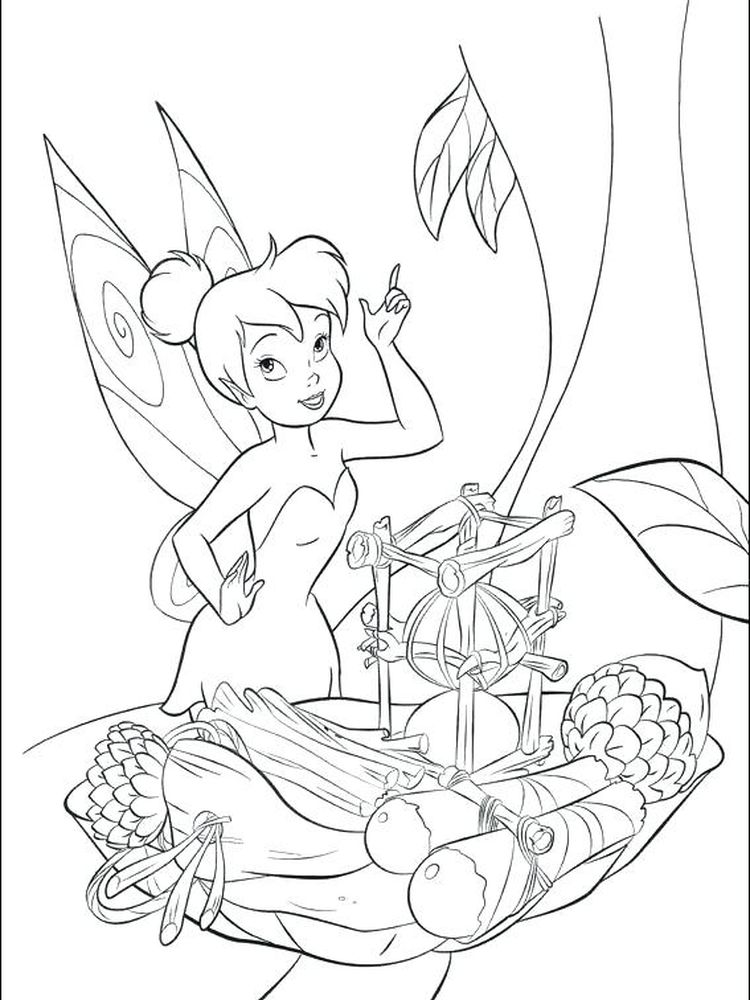 tinkerbell and fairies coloring pages