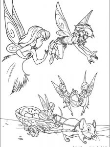 tinkerbell and periwinkle coloring pages