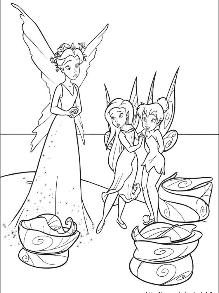 tinkerbell characters coloring pages