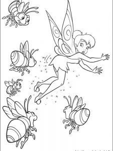 tinkerbell coloring pages and friends