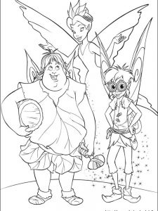 tinkerbell coloring pages disney