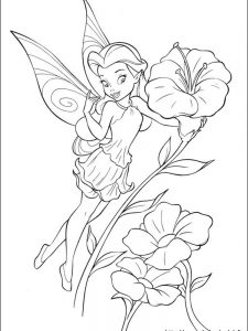 tinkerbell coloring pages for free