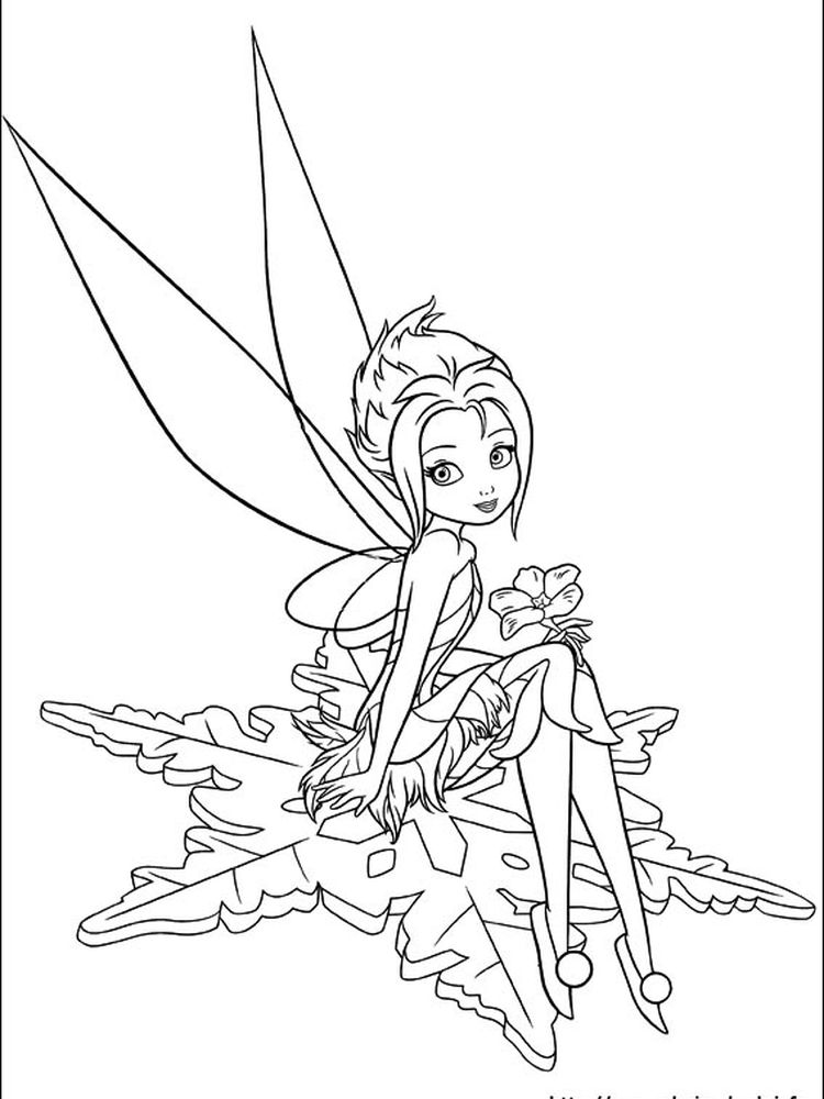 tinkerbell coloring pages for kids printable