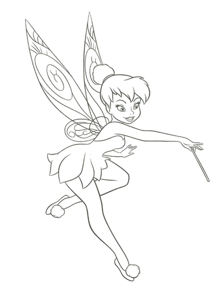 tinkerbell disney coloring pages