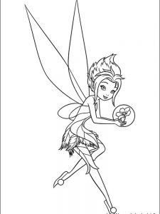 tinkerbell face coloring pages