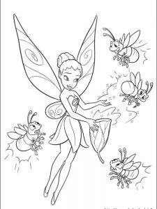 tinkerbell fairies coloring pages