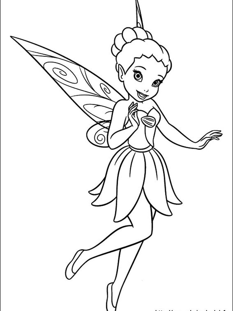 tinkerbell fairies coloring pages to print