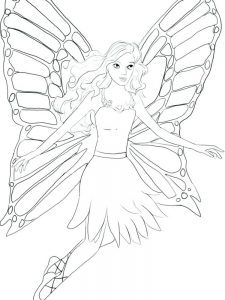 tinkerbell fairy coloring pages