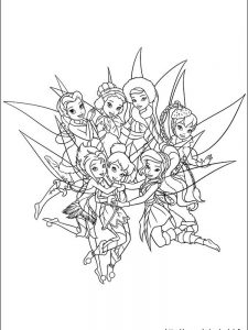 tinkerbell free coloring pages