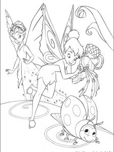 tinkerbell pictures coloring pages