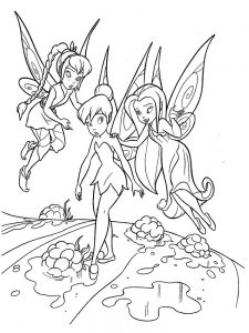 tinkerbell print out coloring pages