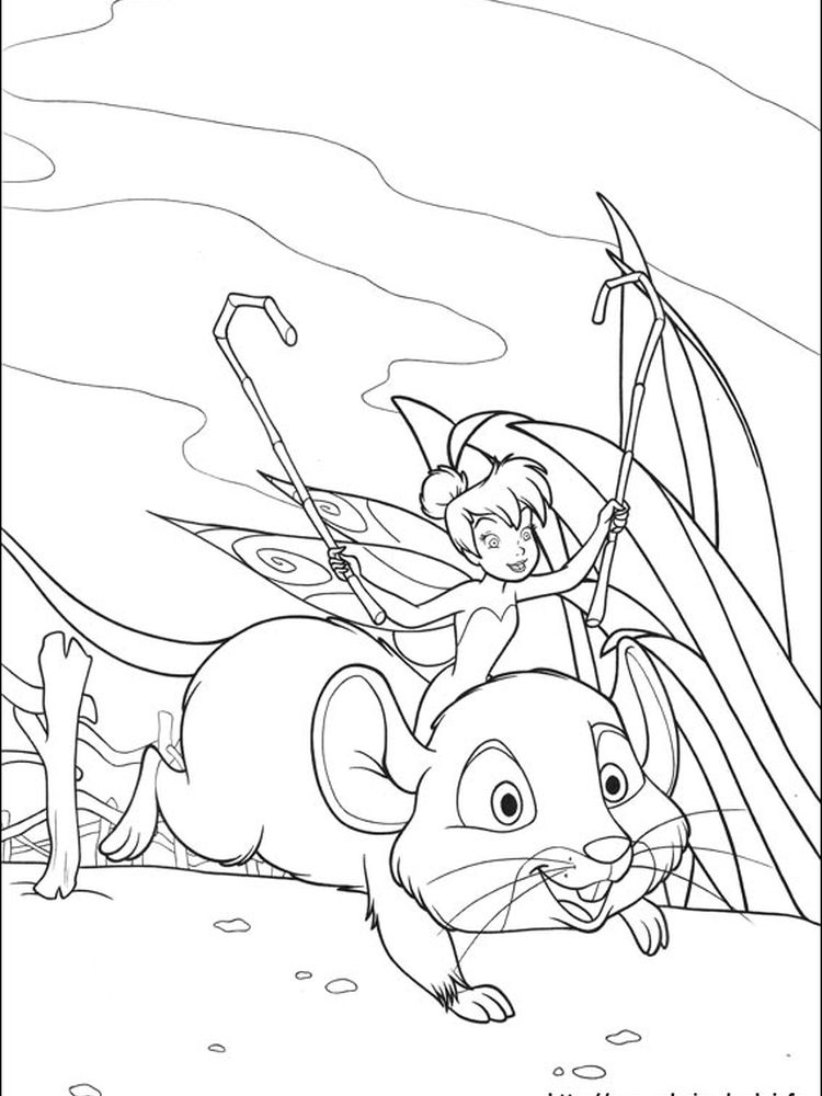 tinkerbell printable coloring pages for kids
