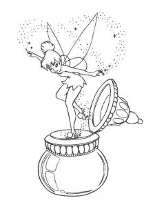 tinkerbell silvermist coloring pages