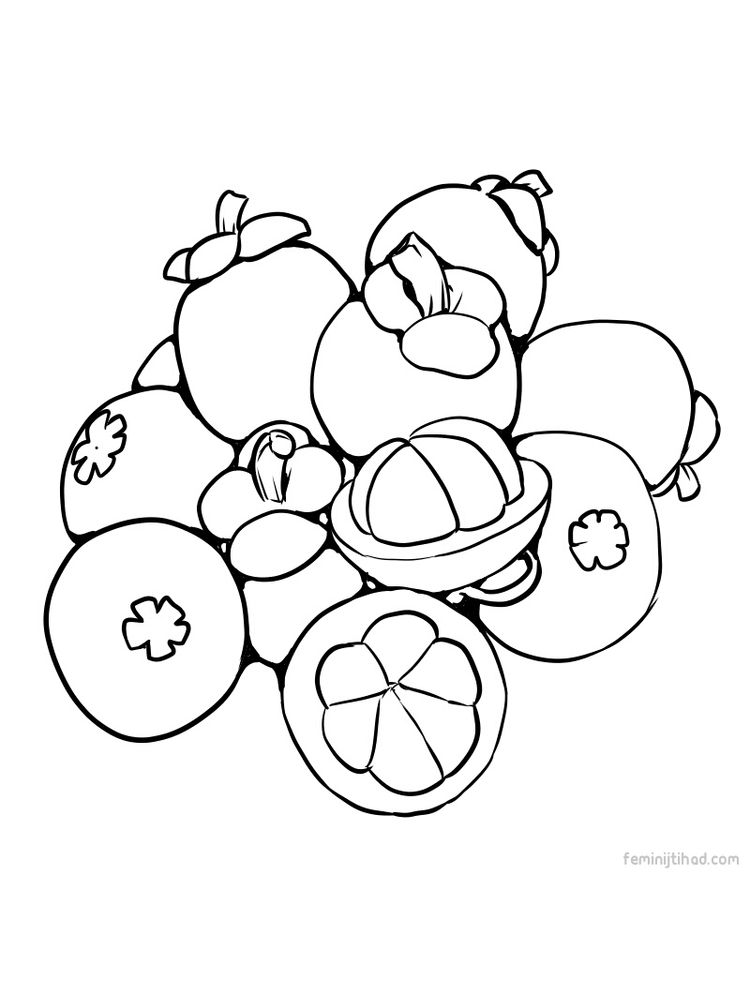 to print mangosteen coloring sheet