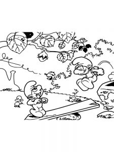 to print smurf coloring pages