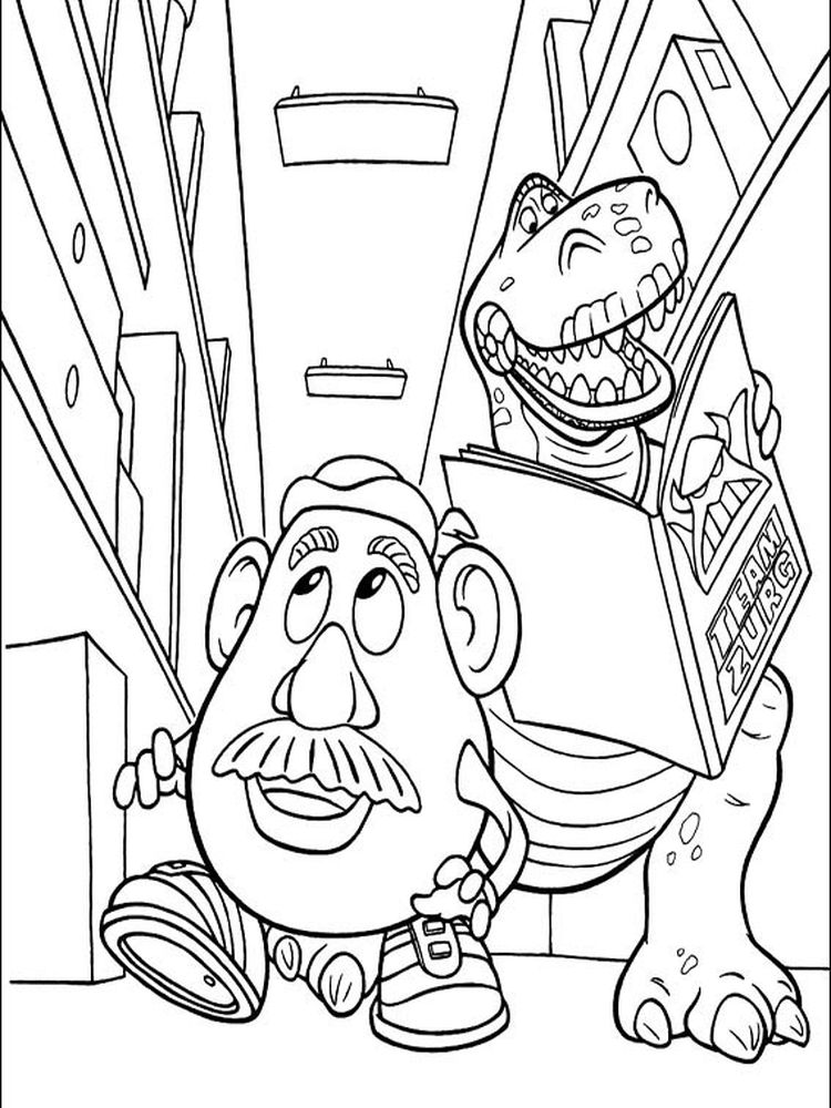 toy story alien coloring pages