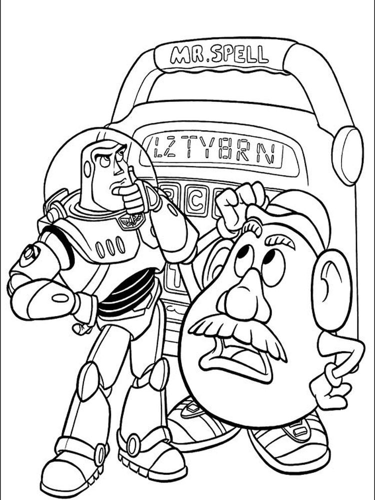 toy story characters coloring pages