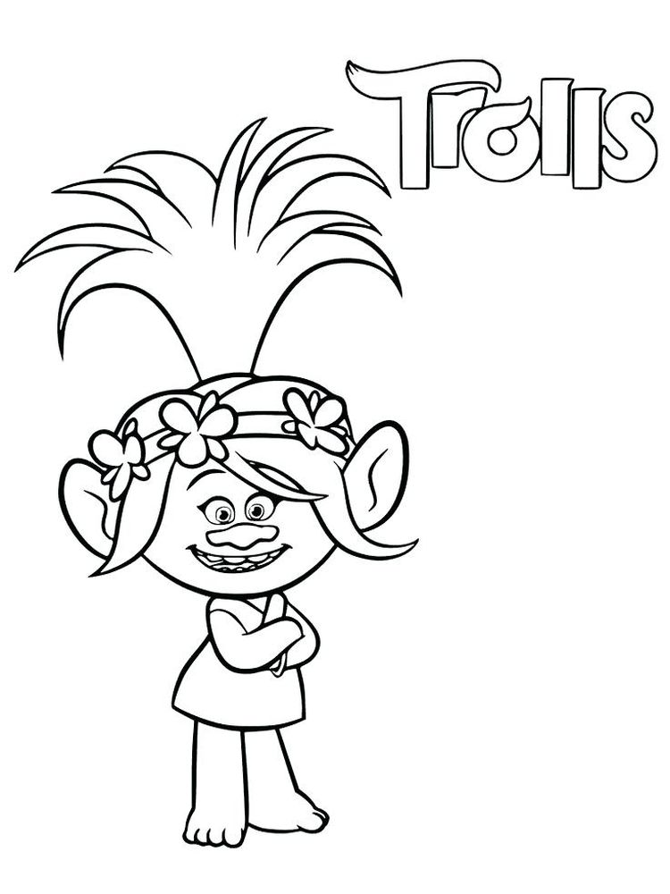trolls coloring pages printable