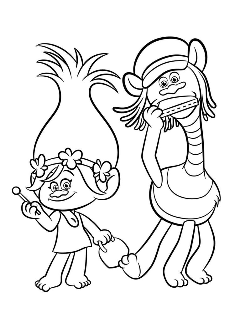 trolls movie coloring pages head free