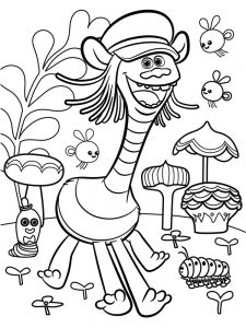 trolls the movie coloring pages printable