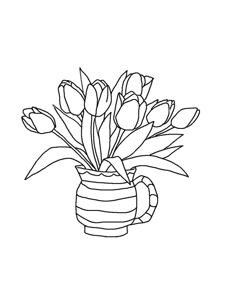tulip coloring pages print