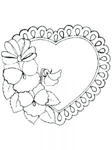 unicorn and hearts coloring pages