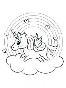 unicorn coloring pages printable free